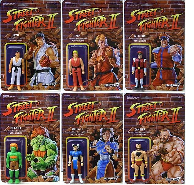 SUPER 7 REACTION FIGURES 3.75インチアクションフィギュア STREET FIGHTER II 6種セット