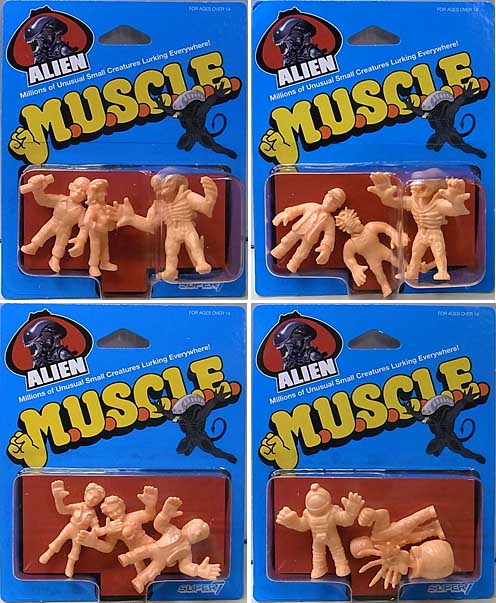 SUPER 7 MUSCLE ALIEN WAVE 1 4種セット