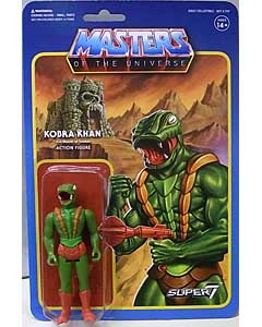SUPER 7 REACTION FIGURES 3.75インチアクションフィギュア MASTERS OF THE UNIVERSE WAVE 3 KOBRA KHAN