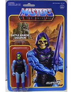 SUPER 7 REACTION FIGURES 3.75インチアクションフィギュア MASTERS OF THE UNIVERSE WAVE 3 BATTLE ARMOR SKELETOR 台紙傷み特価