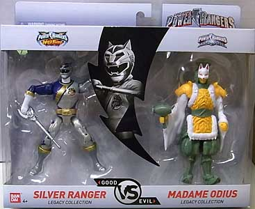 USA BANDAI POWER RANGERS LEGACY COLLECTION 5インチアクションフィギュア 2PACK WILD FORCE SILVER RANGER & MADAME ODIUS