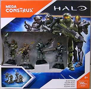 MEGA CONSTRUX HALO BLUE TEAM 4PACK BOX SET