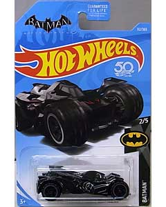 MATTEL HOT WHEELS 1/64スケール 2018 BATMAN BATMAN: ARKHAM KNIGHT BATMOBILE #112