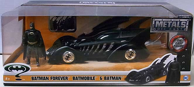 JADA TOYS METALS DIE CAST 1/24スケール BATMAN FOREVER BATMOBILE & BATMAN パッケージ傷み特価