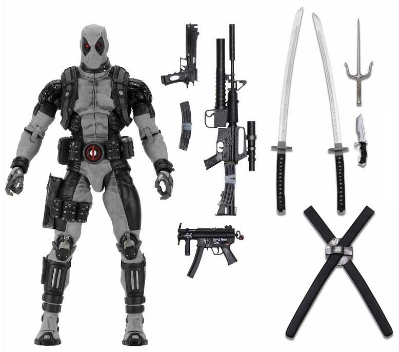 NECA MARVEL COMICS 1/4スケール アクションフィギュア DEADPOOL [X-FORCE]