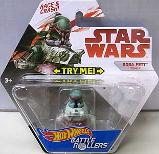 MATTEL HOT WHEELS STAR WARS DIE-CAST VEHICLE BATTLE ROLLERS BOBA FETT
