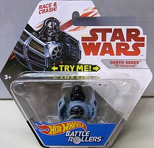 MATTEL HOT WHEELS STAR WARS DIE-CAST VEHICLE BATTLE ROLLERS DARTH VADER