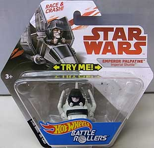 MATTEL HOT WHEELS STAR WARS DIE-CAST VEHICLE BATTLE ROLLERS EMPEROR PALPATINE