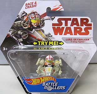 MATTEL HOT WHEELS STAR WARS DIE-CAST VEHICLE BATTLE ROLLERS LUKE SKYWALKER