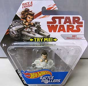 MATTEL HOT WHEELS STAR WARS DIE-CAST VEHICLE BATTLE ROLLERS REY
