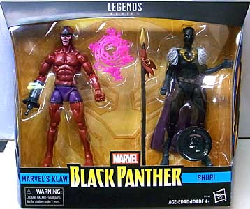 HASBRO MARVEL LEGENDS 2018 2PACK BLACK PANTHER KLAW & SHURI