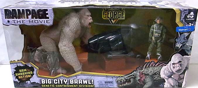 LANARD TOYS RAMPAGE THE MOVIE BIG CITY BRAWL GEORGE