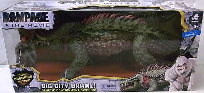 LANARD TOYS RAMPAGE THE MOVIE BIG CITY BRAWL LIZZIE パッケージ傷み特価