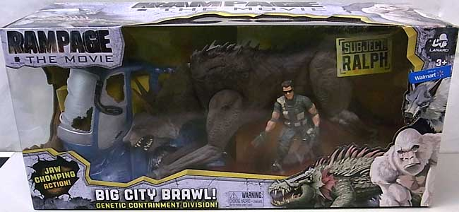 LANARD TOYS RAMPAGE THE MOVIE BIG CITY BRAWL RALPH