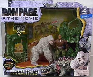 LANARD TOYS RAMPAGE THE MOVIE CANISTER CONTACT GEORGE