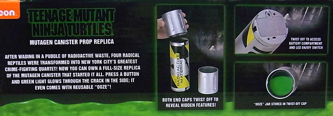 NECA TEENAGE MUTANT NINJA TURTLES [1990 MOVIE] MUTAGEN CANISTER PROP REPLICA