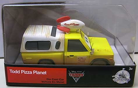 CARS 3 USAディズニーストア限定 ダイキャストミニカー TODD PIZZA PLANET