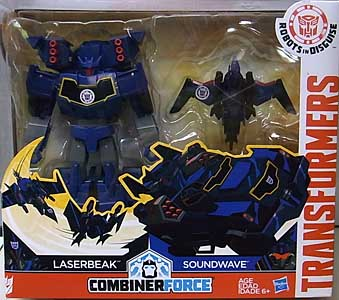 HASBRO アニメ版 TRANSFORMERS ROBOTS IN DISGUISE COMBINER FORCE ACTIVATOR COMBINERS SOUNDWAVE & LASERBEAK