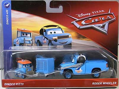 MATTEL CARS 2018 2PACK DINOCO PITTY & ROGER WHEELER