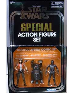 2018年 サンディエゴ・コミコン限定 HASBRO STAR WARS 3.75インチアクションフィギュア THE VINTAGE COLLECTION 2018 SPECIAL ACTION FIGURE SET DOCTOR APHRA COMIC SET