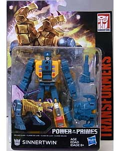 HASBRO TRANSFORMERS GENERATIONS POWER OF THE PRIMES DELUXE CLASS SINNERTWIN