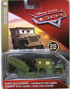 MATTEL CARS 2018 DELUXE SARGE WITH CANNON