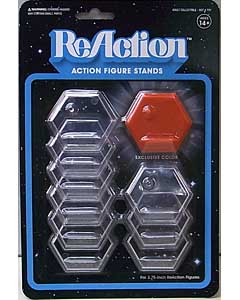 SUPER 7 REACTION FIGURES 3.75インチアクションフィギュア用 STAND [RED入り]