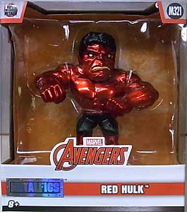 JADA TOYS METALS DIE CAST 4インチフィギュア AVENGERS RED HULK [METALLIC COLOR] パッケージ傷み特価
