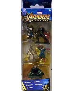 JADA TOYS MARVEL NANO METALFIGS 映画版 AVENGERS: INFINITY WAR 5PACK [ROCKET入り]