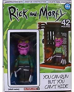 McFARLANE TOYS RICK AND MORTY CONSTRUCTION SET YOU CAN RUN BUT YOU CAN'T HIDE