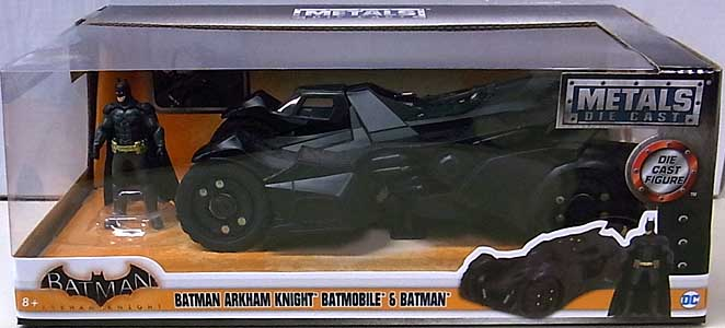 JADA TOYS BATMAN: ARKHAM KNIGHT METALS DIE CAST 1/24スケール BATMOBILE & BATMAN