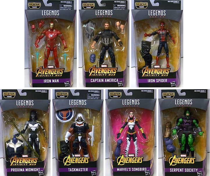 HASBRO MARVEL LEGENDS 2018 AVENGERS SERIES 1.0 7種セット [THANOS SERIES]