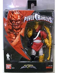 USA BANDAI POWER RANGERS SUPER NINJA STEEL 5インチアクションフィギュア VILLAIN BRAX
