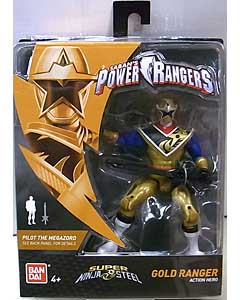 USA BANDAI POWER RANGERS SUPER NINJA STEEL 5インチアクションフィギュア GOLD RANGER