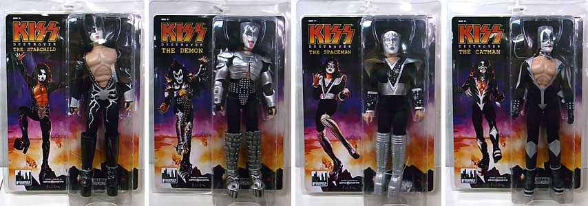 FIGURES TOY COMPANY KISS RETRO 12インチ SERIES 7 DESTROYER 4種セット