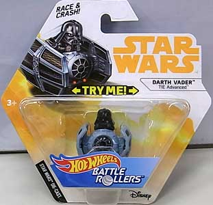 MATTEL HOT WHEELS STAR WARS DIE-CAST VEHICLE BATTLE ROLLERS 2018 DARTH VADER
