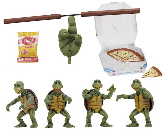NECA TEENAGE MUTANT NINJA TURTLES [1990 MOVIE] 1/4スケール BABY TURTLE ACCESSORY SET