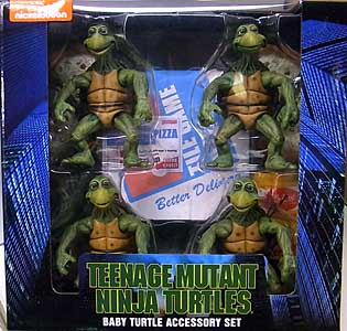 NECA TEENAGE MUTANT NINJA TURTLES [1990 MOVIE] 1/4スケールアクションフィギュア BABY TURTLE ACCESSORY SET