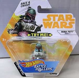 MATTEL HOT WHEELS STAR WARS DIE-CAST VEHICLE BATTLE ROLLERS 2018 BOBA FETT