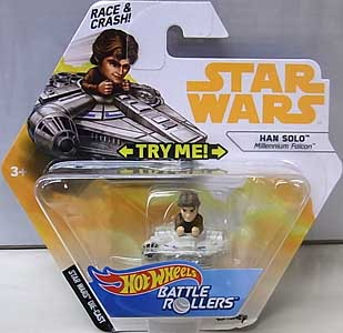 MATTEL HOT WHEELS STAR WARS DIE-CAST VEHICLE BATTLE ROLLERS 2018 HAN SOLO 台紙傷み特価
