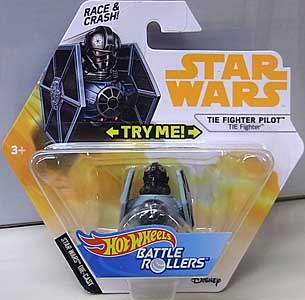 MATTEL HOT WHEELS STAR WARS DIE-CAST VEHICLE BATTLE ROLLERS 2018 TIE FIGHTER PILOT
