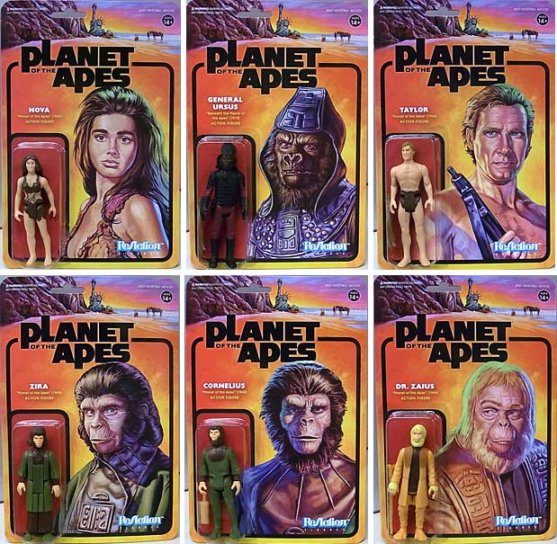 SUPER 7 REACTION FIGURES 3.75インチアクションフィギュア PLANET OF THE APES 6種セット