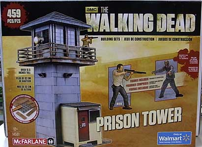 McFARLANE TOYS THE WALKING DEAD TV BUILDING SETS PRISON TOWER