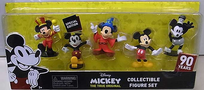JUST PLAY DISNEY MICKEY MOUSE 90TH ANNIVERSARY COLLECTIBLE FIGURE SET