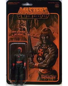 SUPER 7 REACTION FIGURES 3.75インチアクションフィギュア POWER-CON EXCLUSIVE MASTERS OF THE UNIVERSE ANTI-ETERNIA HE-MAN
