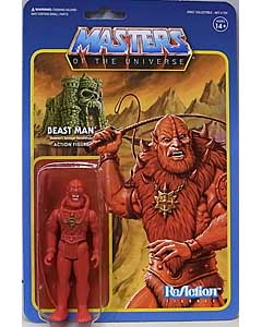 SUPER 7 REACTION FIGURES 3.75インチアクションフィギュア POWER-CON EXCLUSIVE MASTERS OF THE UNIVERSE BEAST MAN