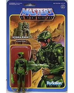 SUPER 7 REACTION FIGURES 3.75インチアクションフィギュア POWER-CON EXCLUSIVE MASTERS OF THE UNIVERSE KOBRA KHAN