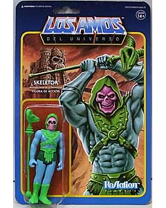 SUPER 7 REACTION FIGURES 3.75インチアクションフィギュア POWER-CON EXCLUSIVE MASTERS OF THE UNIVERSE SKELETOR
