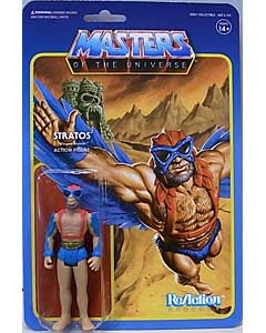 SUPER 7 REACTION FIGURES 3.75インチアクションフィギュア POWER-CON EXCLUSIVE MASTERS OF THE UNIVERSE STRATOS [MINI COMIC VERSION]