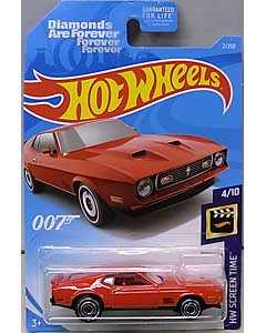 MATTEL HOT WHEELS 1/64スケール 2018 HW SCREEN TIME 007 DIAMONDS ARE FOREVER  '71 MUSTANG MACH 1 #002